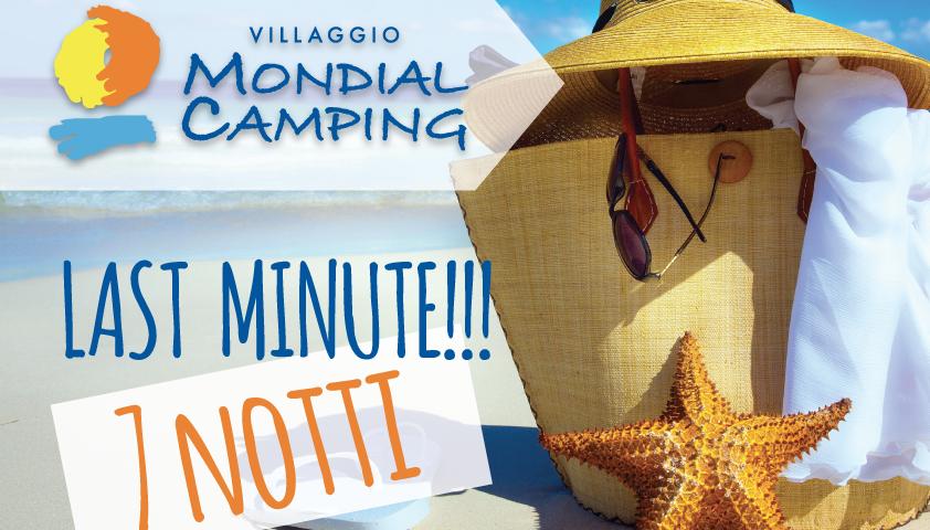 LAST MINUTE! Soggiorno in bungalow 7 notti! – Villaggio Mondial Camping