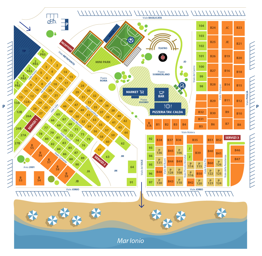 Mappa Villaggio Mondial Camping